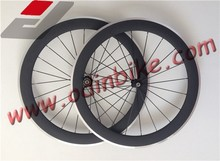 cheap carbon wheel ,700C full carbon clicher wheels 80mm, alluminum braking surface