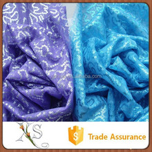 Elegant Young Lady Foil Mesh Fabric For Curtain Gauze