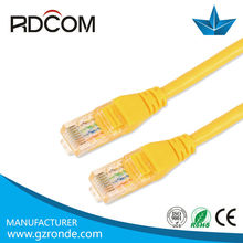 High quality bare copper/cca 24awg cat 5e patch cable