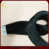 Strong glue human hair extension virgin remy natural color hair