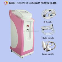 Vertical salon use e light ipl rf beauty equipment