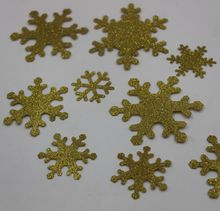 Laser cut Gold Christmas decoration snowflake shaped wholesale confetti