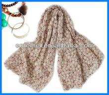 Nuevo diseño precioso pañuelo de gasa barato