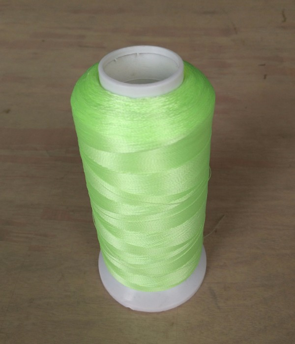 Glow in the dark yarn for embroidery