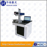 Huahai easy operated10w 20w 30w fiber machine laser marking price