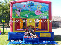 Commercial spongebob inflatable bounce house