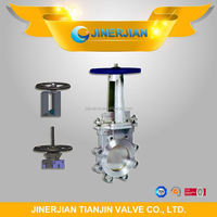 pneumatic operated knife gate valve with pneumatic actuator
