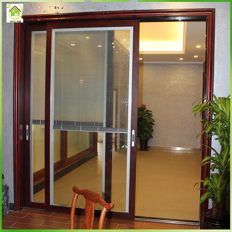 Grand verre en aluminium porte en verre porte coulissante prix double vitrag - Double porte coulissante vitree ...