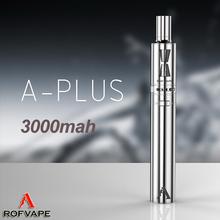 2015 Innovative New products Rofvape A Plus 50w ego c twist vapor tanks and batteries pen kit