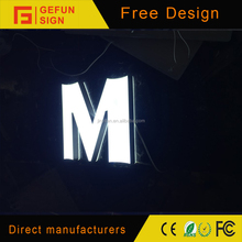 High Bright Waterproof LED Mini Acrylic Letters/Alphabet Letters