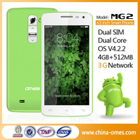 China New Smartphone 3G IPS Cheap MTK6572 Dual Core Android 5-inch Wholesale Mobile Phone