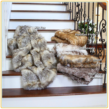 """TOP 10 Hot Selling Champagne Fox Faux Fur Lounge Throw Blanket 50""""x60"""""""