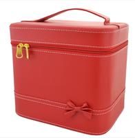 2014 Newest Portable Handle Large Cosmetic Bag Makeup Storage Case Wholesale