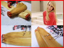 European PU skin weft hair, 100% virgin remy human cabelo weft silky straight color 613,Russian Pu tape weft hair extensions