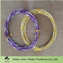 craft anodized aluminum wire with flower cut