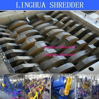 LDPE agriculture film waste plastic double shaft shredder