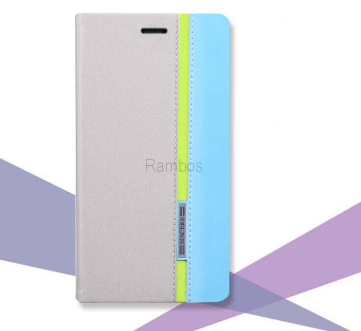Capa de couro color Mix com slot para cartão personalizar caso para alcatel ot5070x