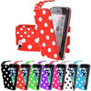 Newest Polka Dot Design PU Leather Flip Cover Case For iPhone 6