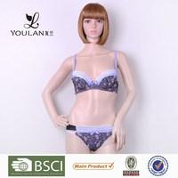 New Design Delicate Hot Lady Flower Print Shiny Nylon Panty