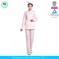 Best 2015 Fashion doctor nurse clothes, medical scrubs, hospital uniforms Long-Sleeve
