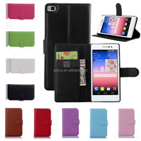 For Huawei Ascend P8 Case Flip Wallet Cover Leather Cell Phone Case with Card Holder