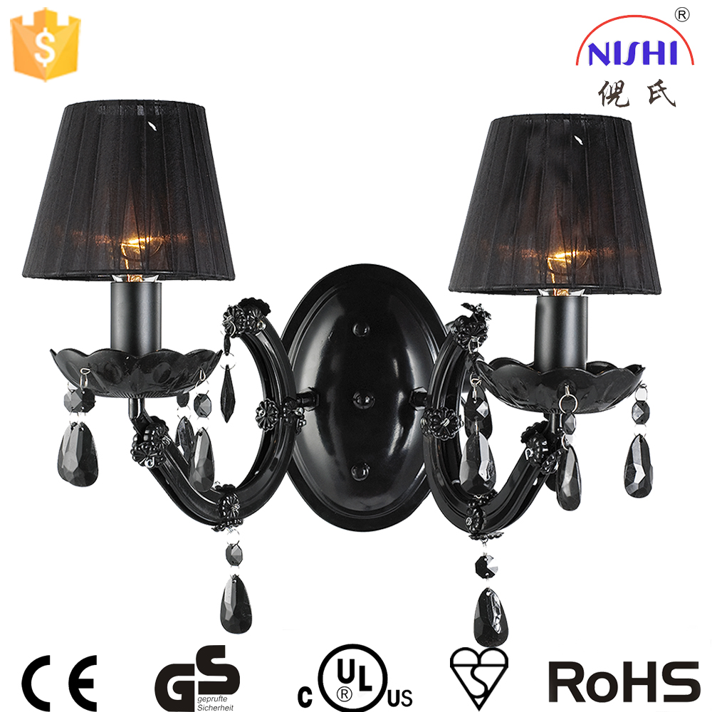 E14 Wall Lamp/black Fabric Wall Lights With Acrylic For Bedroom Decorations Ns-123015d - Buy ...
