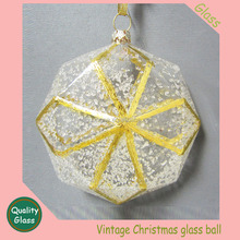 Christmas Ornament clear ball with gole line Ball Ornament