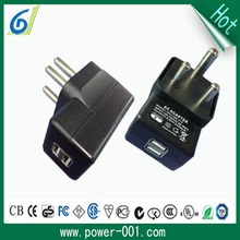 Manufacturer South Africa power adapter, travel charger with 2 USB port