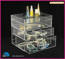 Eco-friendly High Quality Clear Acrylic Daily Need Products Makeup Vanity Chest