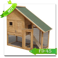 Outdoor wooden rabbit hutch pet house FD-45 for sale