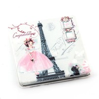 pu leather decorative/makeup mirror professional/compact mirror/HQPUM-IMG-0805