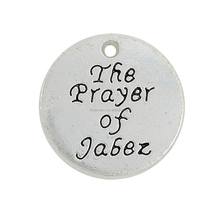 Custom Made Zinc Alloy Antique Silver Plated The Prayer of Jabez Charms Wholesale