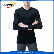 Men Long Sleeve Black Copper Antimicrobial Underwear