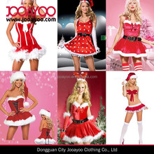 Sexy Women Santa Claus Costume Cosplay Lady Xmas Outfit Fancy Christmas Dress