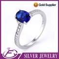 Calidad de ajuste fuerte cz piedra 925 plata de ley anillo de moda