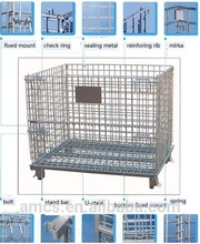 Warehouse Trolley Cage Stainless Steel Storage Cage