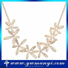 Popular style selling well fashion jewelry promise charming crystal flower indian necklace New accessories woman 2015