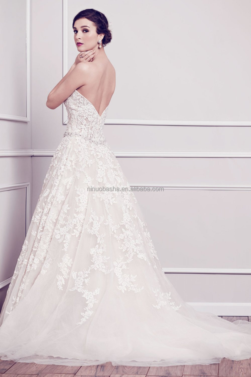Low V Back Wedding Dresses : Admirable ball gown wedding dress sweetheart v shaped low back