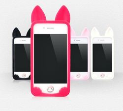 New 3D cartoon koko cute Ear Cat Rabbit soft silicone Case For IPhone 5 5S phone cases
