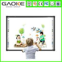 50-130'' anti- scratch anti-glare silver slim frame 4 touch Infrared interactive electronic smart whiteboard e optical iq board