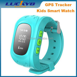 Cool anti lost latest design Android GPS kids tracker Bluetooth double talk family calls SOS security fence kids smart watch