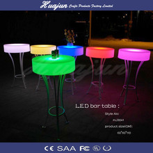 LED high top outdoor table furniture/LED livingroom table
