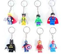 Wholesale 2015 New Plastic Avengers 2 Captain America/Iron Man/Hulk/Batman Keychains Anime Keyrings for Gifts