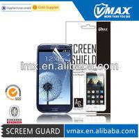 Screen lcd guard protector for Samsung galaxy i9300 s3 oem/odm(Anti-Fingerprint)