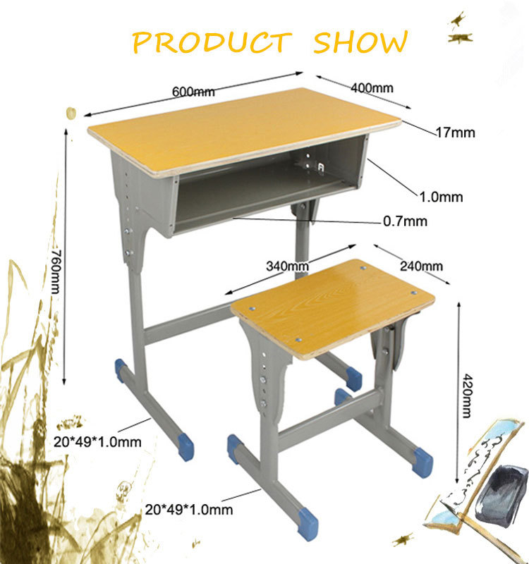 Classroom Furniture Dimensions And Anthropometric Measures In Primary School ~ High quality plastic student desk standard size of school