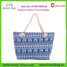 Hot Sell Elephant Canvas Tote Bag Fashion Trend Handbags