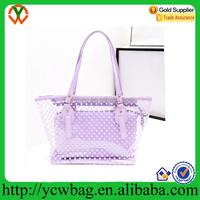 women`s PVC shoulder handbags satchel tote shopping bags