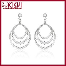 2015 Fashin Trend Charming Elegant Hot Silver Circle Earrings Designs For Girls