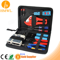 Network Tool Bag Kit with Crimper Cutter Stripper