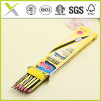 Wooden Thin pencil,good quality HB black lead pencils for school kids